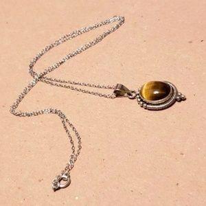 Jewelry - Beautiful Vintage Sterling Silver Tiger Eye